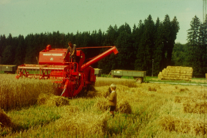 Father Florian as a boy enthusiastic about agricultural machinery