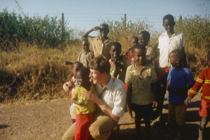 Father Florian on one of his first visits to Kenya